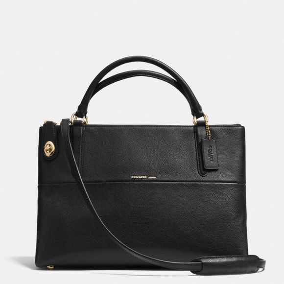coach bags turnlock borough bag in pebbled leather poshmark rh poshmark com